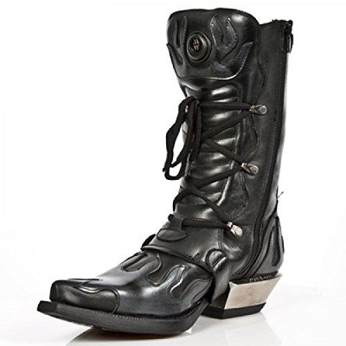 Nieuwe Rock Handgemaakte M 7935 C11 Zwarte Mannen Laarzen