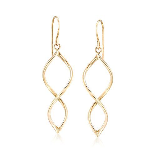 Ross-Simons 14kt Yellow Gold Open Spiral Drop Earrings