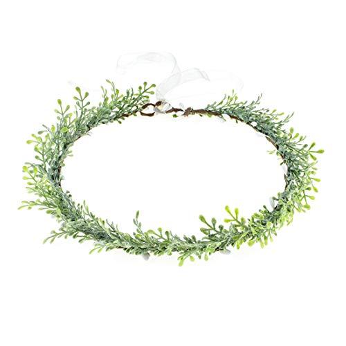 Vividsun Bridal Green Leaf Crown Bohemian Headpiece Floral Headband Photo Prop (leaf)]()