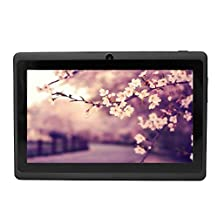 Yuntab 8GB Y88 Allwinner A33 7 inch tablet pc Android Quad-core Tablet PC, 1024*600 Capacitive, Google Android 4.4 ,with Dual Camera Google Play Pre-loaded, External 3G ,3D-Game Black