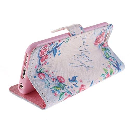 "MOONCASE iPhone 6 Case Magnetverschluss [Painted Patterns] Leder Tasche Flip Case Cover Schutzhülle Etui Hülle Schale für iPhone 6 (4.7"") -LK05"