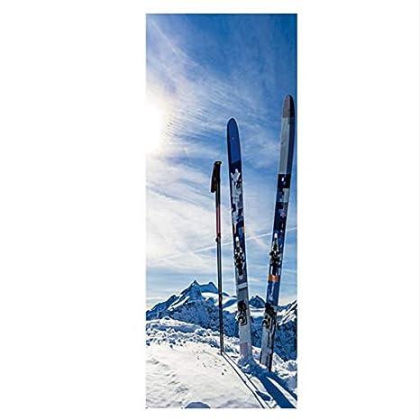 Etiqueta De La Puerta Esquí De Montaña Puerta De La Pared ...