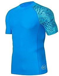 HUGE SPORTS Men's Splice UV Sun Protection UPF 50+ Skins Rash Guard