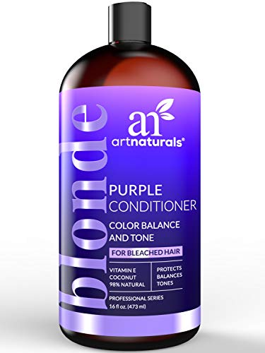 ArtNaturals Purple Conditioner for Blonde Hair - (16 Fl Oz / 473ml) - Protects, Balances and Tones - Bleached, Color Treated and Silver Hair - Sulfate Free