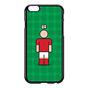 England 2 Black Hard Plastic Case for iPhone 6 Plus by Blunt Football International + FREE Crystal Clear Screen Protector