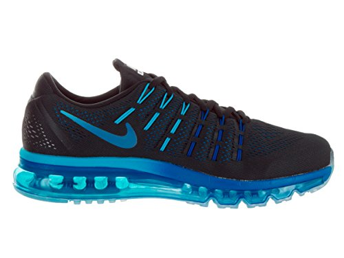 Nike Air Max 2016, Scarpe da Corsa Uomo Black (Black (Schwarz / Multi-color-tief Königsblau))