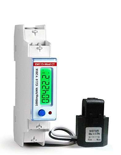 Smart KWh meter 120V USA Mkt. 100 Amps. Single phase 2 wires Energy anylizer with Modbus RTU