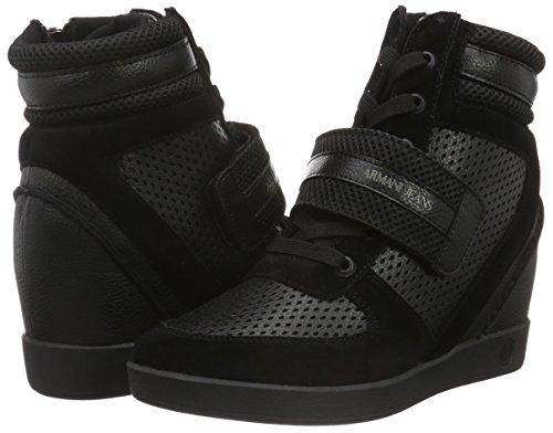 00020 Armani Schwarz nero Sneaker 9250816a473 Alte Donna gw0azqY