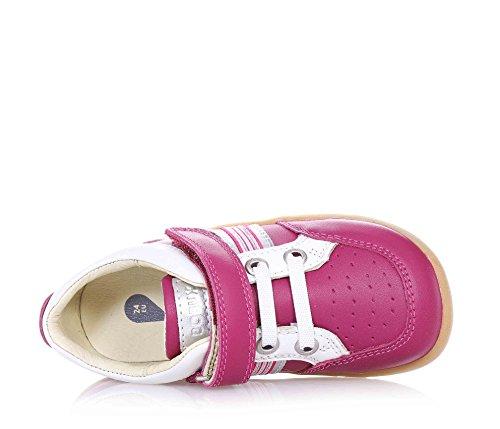 BOBUX - Basket rose en cuir, extrêmement flexible qui permet une croissance sans restriction, réalisée avec teintures et matériaux non-toxiques, avec fermeture en velcro, fille, filles