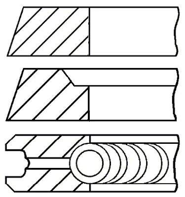 (Goetze 0850180000 Engine Piston Ring Set)
