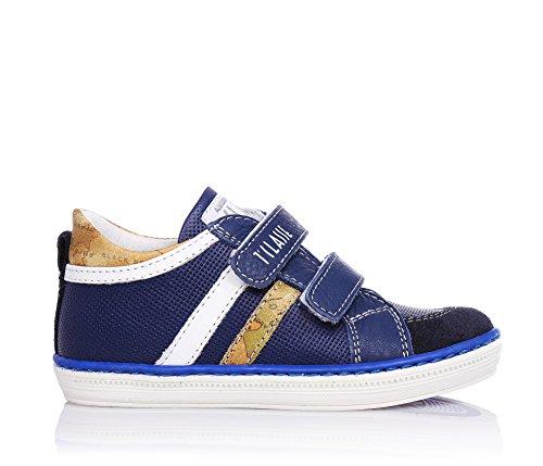 druck 1 Jungen Blaue Classic Klettverschluss Mit Aus classe Leder Applikationen Schuhe Geo OOSnzqr4