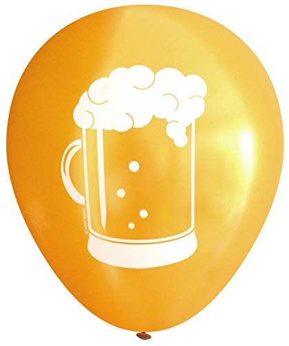 Beer Stein Latex Balloons (16 pcs) by Nerdy Words (Gold) -