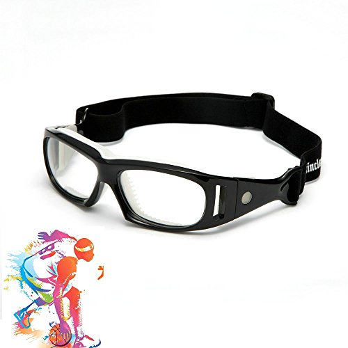 Mincl Basketball Sports Glasses Football Perfect Personality Goggles Black-yhl (black, - Sport Frames