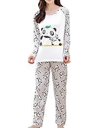 Big Girls Cute Panda Pajama Set Casual Comfy Loungewear Children Sleepwear