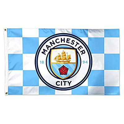 WinCraft Manchester City F.C. Flag 3'x5' - Manchester City F.C. Checkered Flag 3'x5'