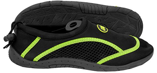 Schuhe Jugendliche Neopren Mikrofaserhandtuch 3B Kinder Damen Herren Poolschuhe Set Aqua MODELL Badeschuhe Aqua Speed Grün Schwarz wtqTI88P