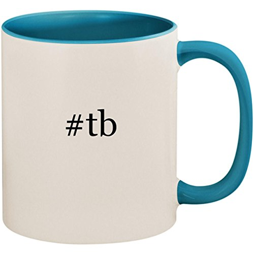 Price comparison product image #tb - 11oz Ceramic Colored Inside and Handle Coffee Mug Cup, Light Blue