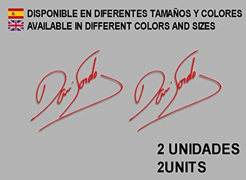 Rojo Ecoshirt EA-AEOK-HTYZ Pegatinas Signature Firma Dani Sordo F104 Vinilo Adesivi Decal Aufkleber Клей Stickers Car Voiture