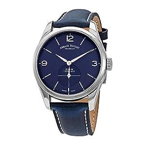 Armand Nicolet LB6 - Reloj de Pulsera para Hombre (edición Limitada, analógico, con Cuerda, A134AAA-BU-P140BU2) 8