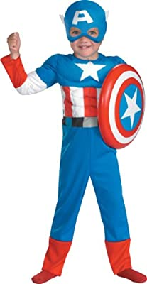 Captain America Toddler Muscle Costumetoddler 3t-4t by Disguise