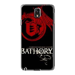 Bumper Hard Phone Case For Samsung Galaxy Note3 (cVQ16556xrHY) Unique Design Realistic Bathory Band Image