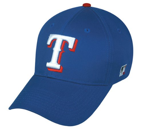 (Texas Rangers (Home - Blue) ADULT Adjustable Hat MLB Officially Licensed Major League Baseball Replica Ball Cap)