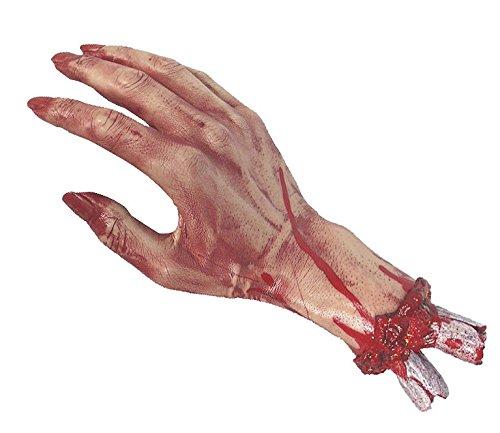 Horror Hand abgehackt Halloween Schocker mit Blut und Knochenstumpf ...