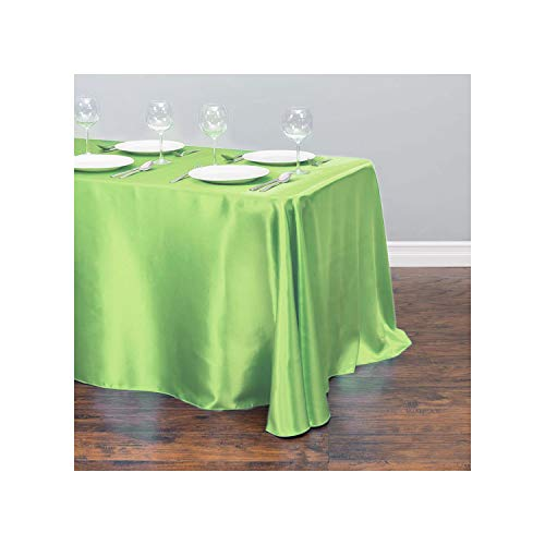 HuangKang 1Pcs Table Cloth Stain Rectangular Table Cover Wedding Tablecloths for Home Party Decor,Light Green,228X335Cm-90X132Inch from HuangKang