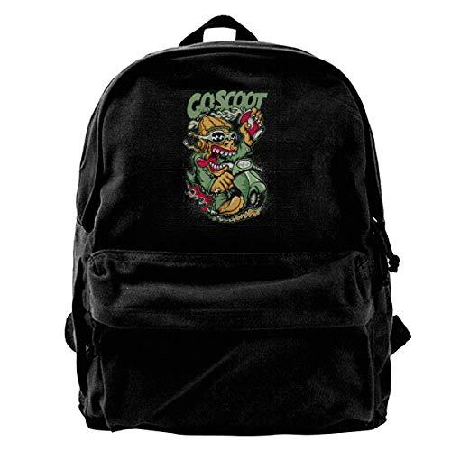 XIANGXIANG SHOP Scooter, Human Behavior, Resistant Backpack for Men Women College Schoolbag Travel Bookbag Black