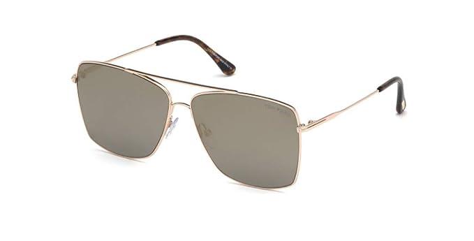 Amazon.com: Tom Ford TF 651 28C Magnus-02 - Gafas de sol ...