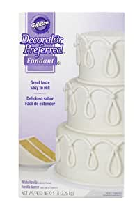Wilton Decorator Preferred Fondant, 5-Pound, White, 710-2300