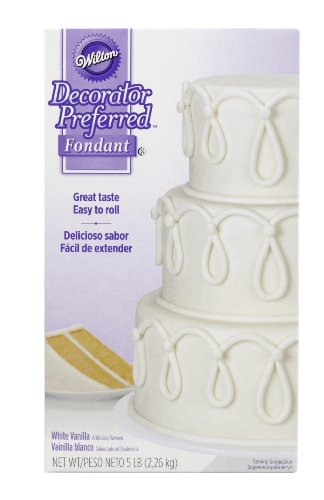 Wilton 710-2300 Decorator Preferred Fondant, 5-Pound, White (Rolled Fondant)