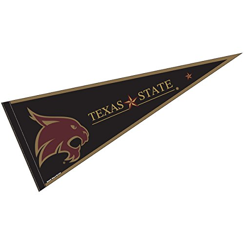 - College Flags and Banners Co. Texas State University Pennant Full Size Felt