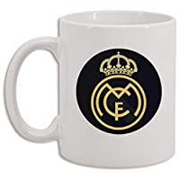 Taza sublimada personalizada Real Madrid Black coleccionable 11 onzas