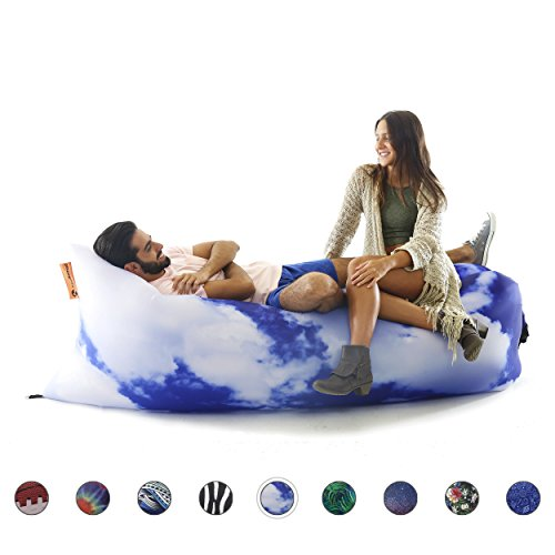 lounge chair, airsofa, inflatable lounger, ideal for music festival and camping, inflatable air lounger.(Clouds) ()