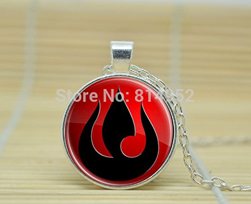 SunShine Day Glass Cabochon Necklace Avatar The Last Airbender Fire Nation Necklace A3141