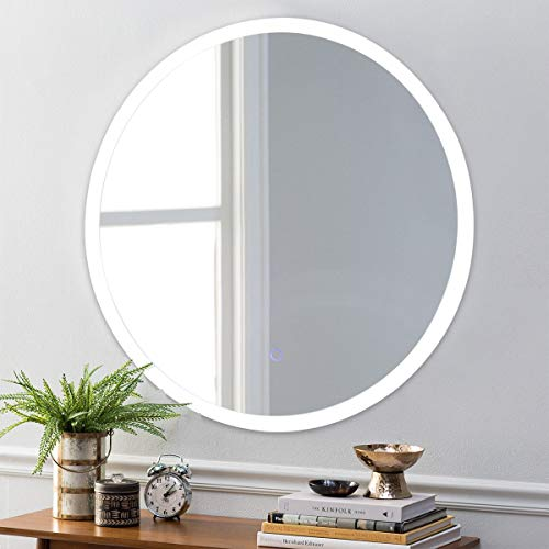 Taltintoo20 24 inches LED Illuminated Light Wall Mount Bathroom Round Mirror, Dimension -