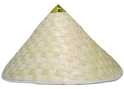 Chinese Coolie Straw Japanese Sun Shade Asian Adult Costume Accessory Hat