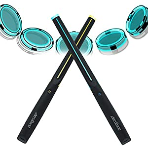 AEROBAND Bluetooth Drum Sticks, Air Electronic Drum Set with Light, Wireless Connection Pocketdrum, 4 Modes Portable…