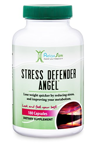 RelaxSlim Anti-Stress Supplement, Formulated by Award Winning Metabolism and Weight Loss Specialist- All Natural Remedy for Sleeping and Weight Loss Difficulties Caused By High Levels of Cortisol Produced by Stress