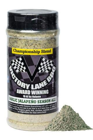 Victory Lane BBQ Garlic Jalapeño Season All Rub-VLBBQ 16 OZ Shaker Championship Blend w/NEW INTERACTIVE Augmented Reality Label! Scan the App & Watch Label Come to Life-Click Links for Tutorial & More