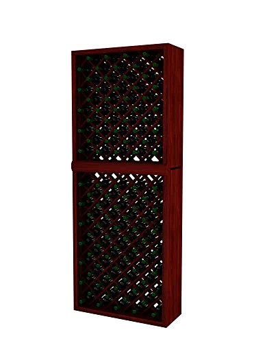 Vintner Series Wine Rack - Individual Diamond Bin - 7 Ft - Premium Redwood with Classic Mahogany - Rack Diamond Individual