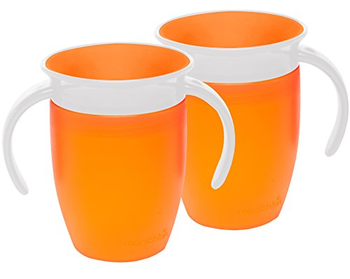 Munchkin Miracle 360 Trainer Cup, Orange, 7 Ounce, 2 Count