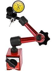 KK moon Shockproof Waterproof Leverage Dial Indicator and Mini Flexible Magnetic Base Holder Bracket Tool Kit