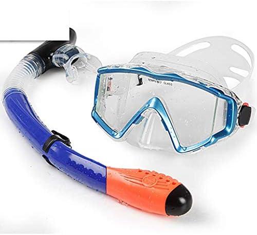 ダイビングゴーグル、スイミングスポーツ用品ゴーグル大人用シュノーケリングミラーセットフルドライシュノーケルディープダイビング用品