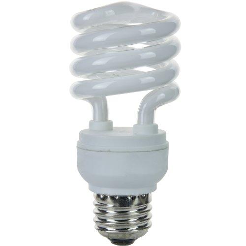 Light Mdt Bulb Lamp (Sunlite SMS13/E/27K/CD4 13 Watt Super Mini Spiral Energy Star Certified CFL Light Bulb Medium Base Warm White Carded 4 Pack)