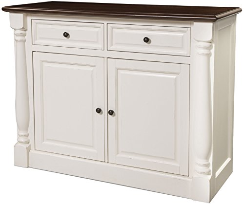 Furniture Antique Buffet (Crosley Furniture CF4206-WH Shelby Buffet - White)