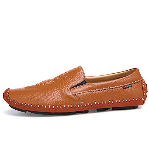 Mocassini Pelle On Uomo Slip Stile Barca Mocassini Estivo da in Marrone Esthesis Scarpe Scarpe Casual 1IHq1
