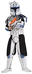 Rubie's Star Wars Clone Wars Child's Clone Trooper Deluxe Captain Rex Costume, Medium