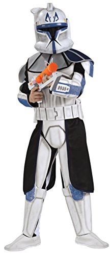 Rex Star Wars (Star Wars Clone Wars Clone Trooper Child's Deluxe Captain Rex Costume, Large)